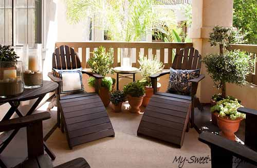 Ways how to make a balcony interior design