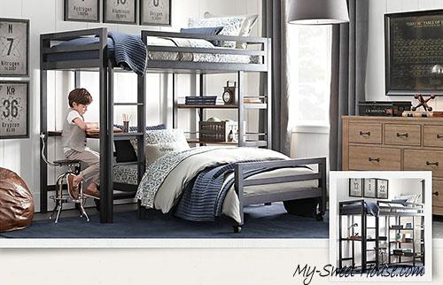 black and white boys room design