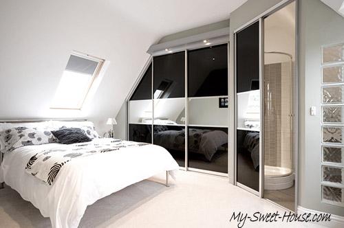 How to make black mirror wardrobe design doors