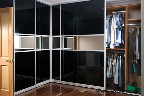 black wardrobe doors