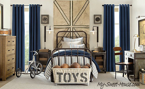How to make blue boys room design