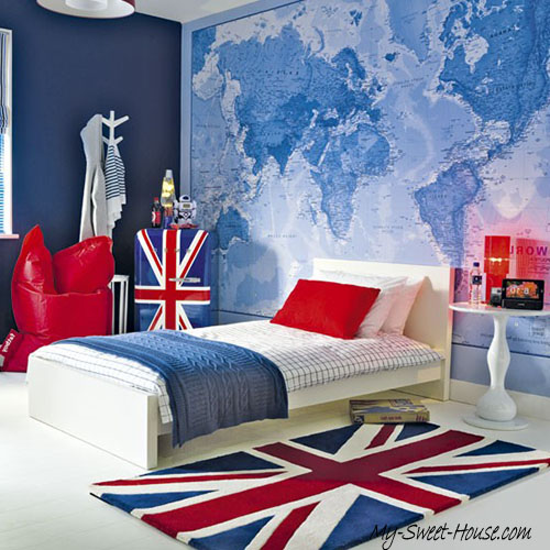 british themed boy room design