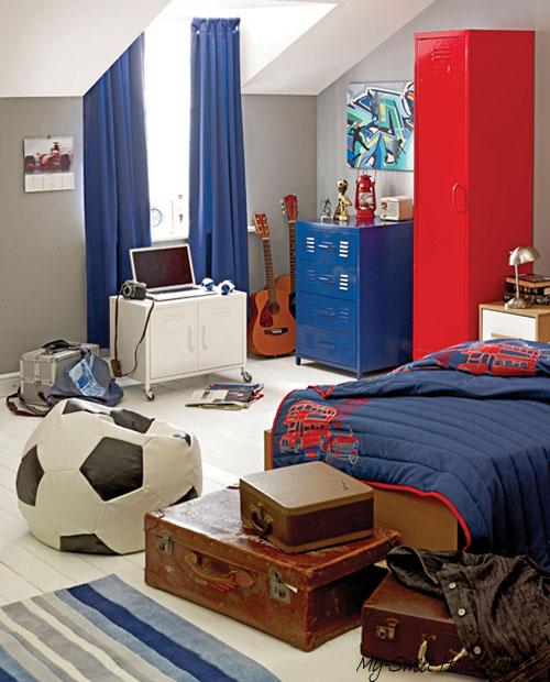 football cool boys room