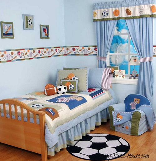 football themed boy room decor