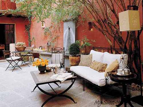 garden terrace design idea