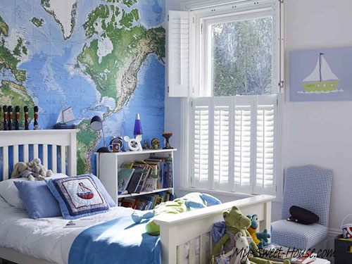 geographical themed modern bedrooms for boys