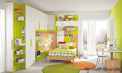 green girls bedrooms