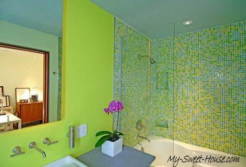 green tile bathroom design