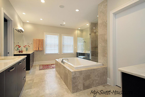 large bathroom tile design