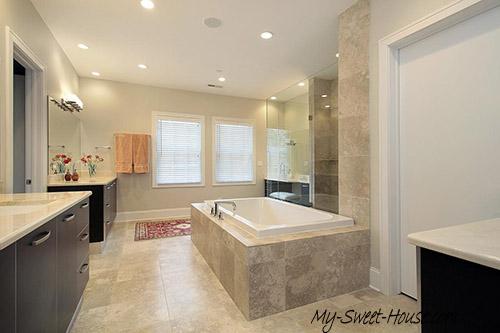 large bathroom tile design