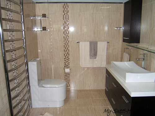 light tile bathroom design