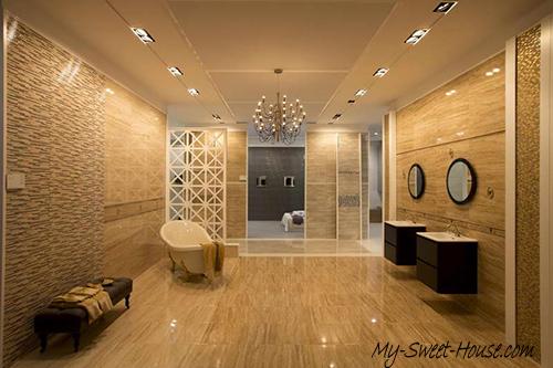 luxury tile bathroom