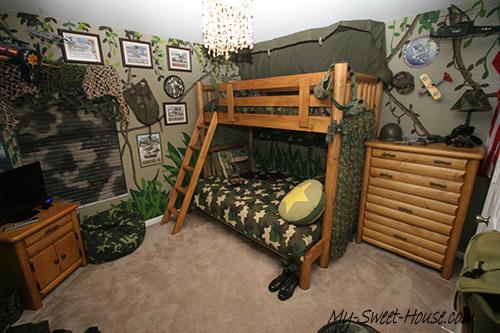military themed boys room