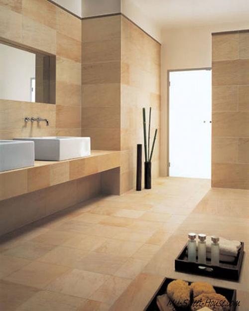 modern tile bathroom decor