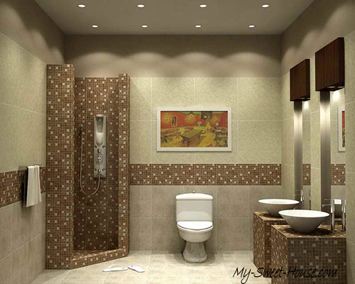 modern tile bathroom idea