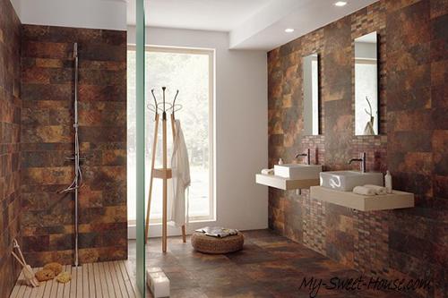modern tile bathroom interior