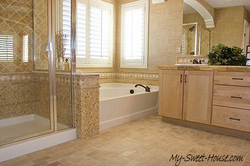 Best ideas of perfect modern tile bathroom