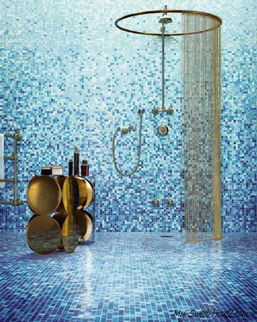 mosaic tile bathroom