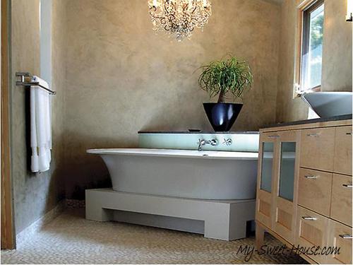 natural tile bathroom design