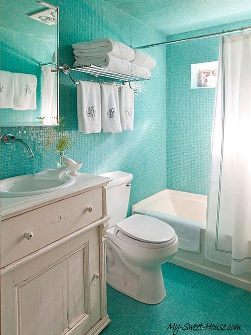 ocean tile  bathroom