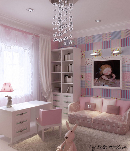 pink bedroom ideas for gilrs