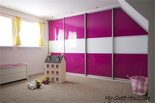 pink wardrobe doors