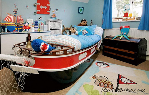 pirate themed boy room decor