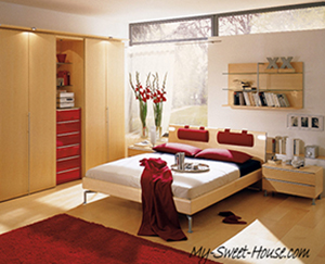 How to create a red bedroom