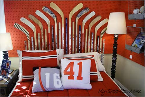 red boy room decor