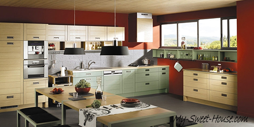 red kitchen design inspirations