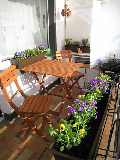small design balcony