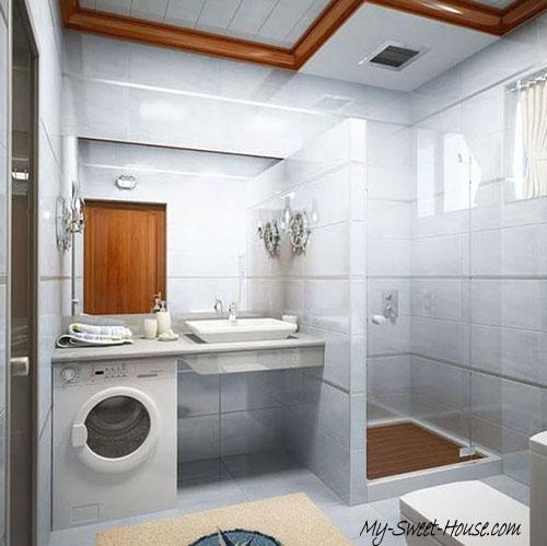 small tile bathroom decor