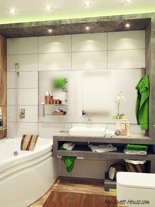 small tile bathroom design