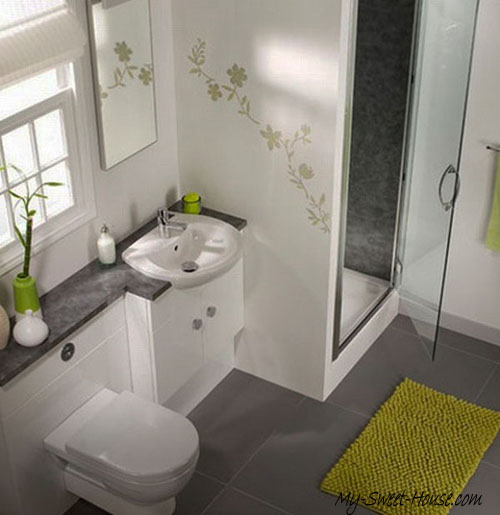 small tile bathroom