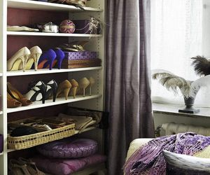 Wardrobe room specifically designed for a female