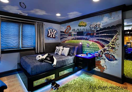 sport themed boy room decor