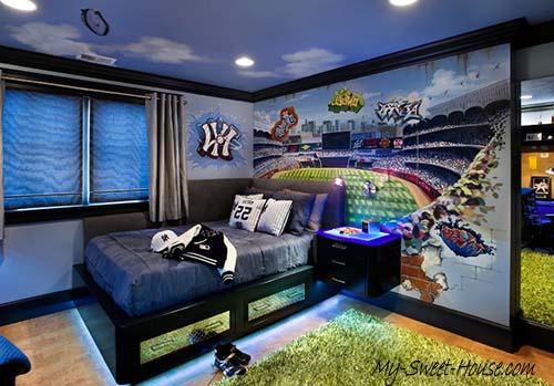 sport themed boy room decor