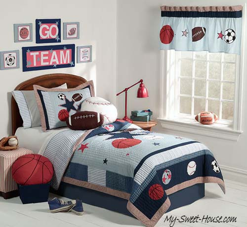 sporting themed boy room decor