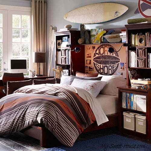 surfing boy room decor