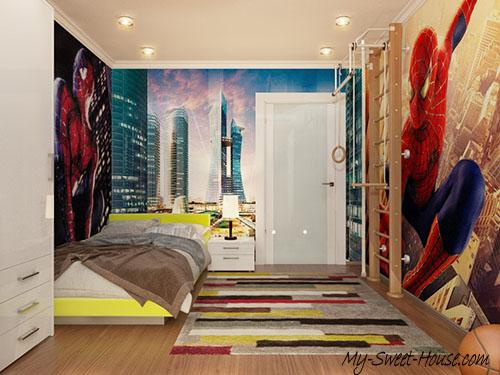themed boys room