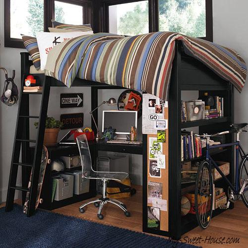 workspace boy room decor