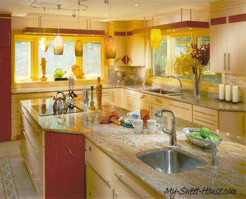 yellow kitchen design inspiration