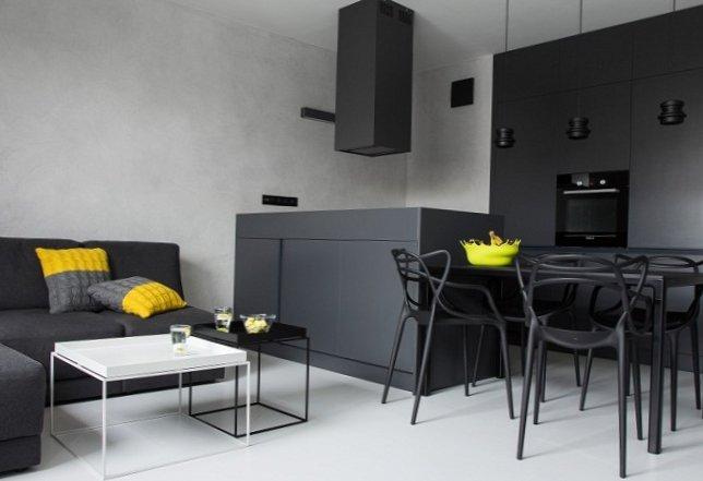 Black and white men's apartment-1