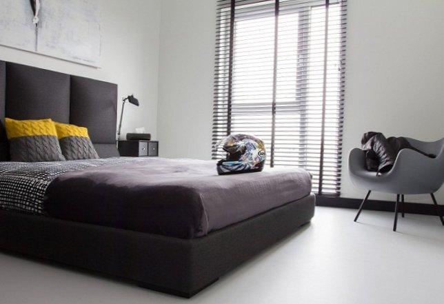 Black and white men's apartment-13