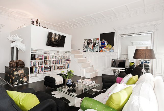 Conceptual interior of the apartment in Stockholm (70 square meters)-2