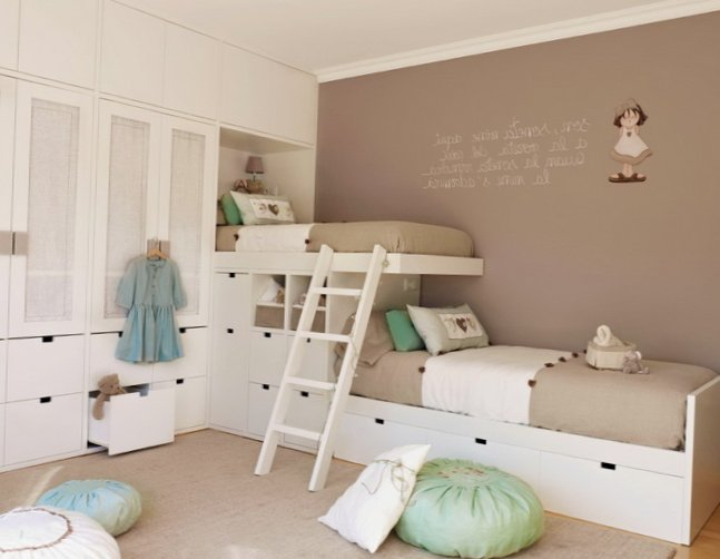 Delicate Ideas for 2 girls kids room  2