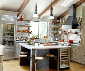 Excellent kitchen in the industrial style 7