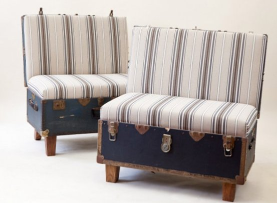 Furniture created from suitcases - Idea 12