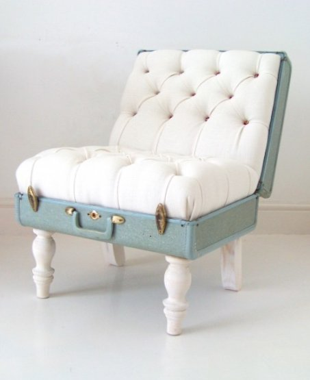 Furniture created from suitcases - Idea 13