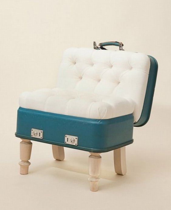 Furniture created from suitcases - Idea 6